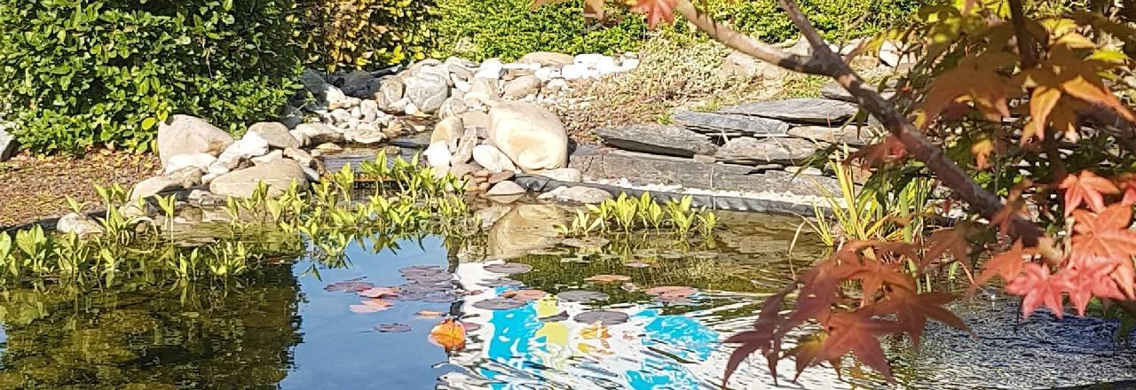 Bassin cascade et galets